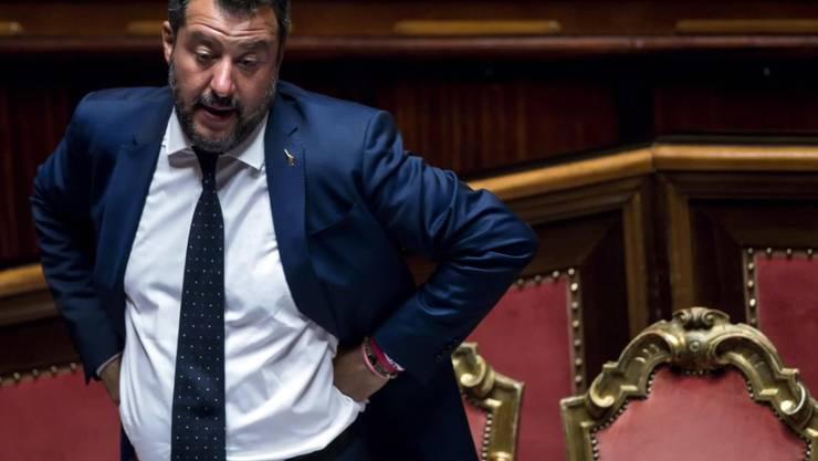 Der italienische Innenminister und Chef der rechten Lega, Matteo Salvini, möchte Neuwahlen abhalten.