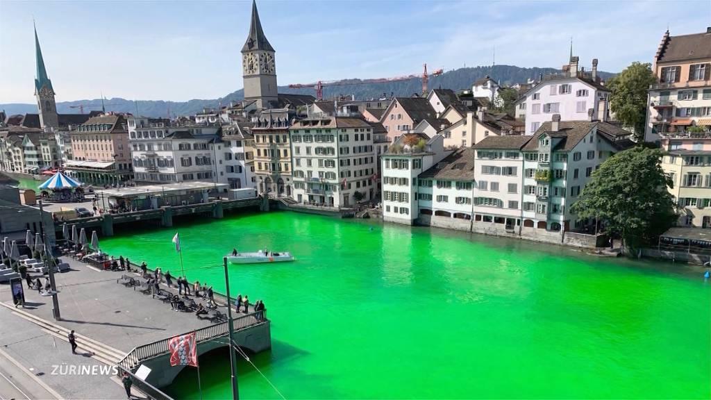 Klimaaktivisten bekommen für grüne Limmat keine Strafe