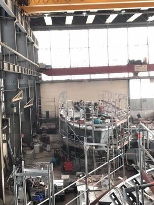 Bilder aus der Werft in Österreich