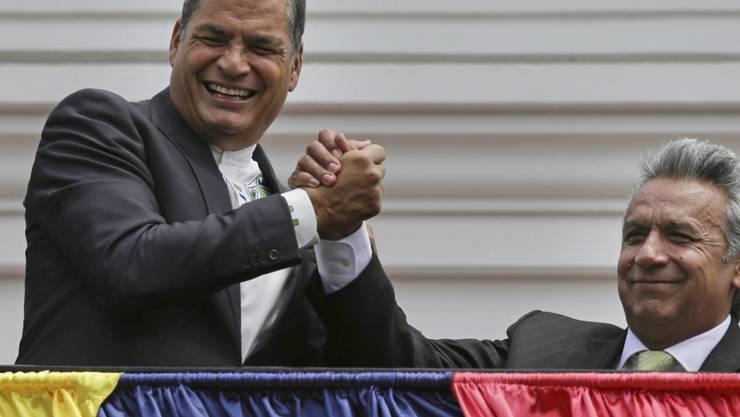 Gegen den ehemaligen Präsidenten Ecuadors, Rafael Correa, ist in seinem Heimatland ein internationaler Haftbefehl erlassen worden - nun muss Belgien das Gesuch prüfen. (Archivbild)