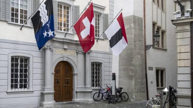 Blick auf das Stadthaus in Baden. (Archiv)