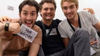 Das Trio Y-Titty mit Oguz Yilmaz, Philipp Laude und Matthias Roll - von links nach rechts - gehörte zu den Comedy-Pionieren auf YouTube. (Archivbild)