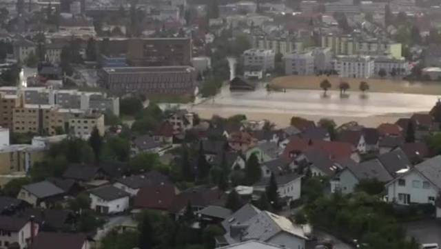 Überschwemmung in Oftringen