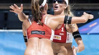 Zeigen sich auch am World Tour Final in Rom von ihrer starken Seite: Joana Heidrich (links) und ihre Partnerin Anouk Vergé-Dépré