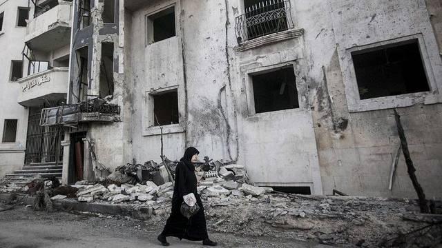 Spuren der Kämpfe: Szene aus Aleppo (Archiv)