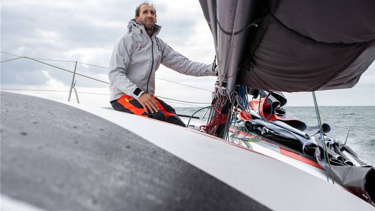 Immer die Nase im Wind: Simon Koster will mit seinem welschen Kollegen Valentin Gautier die Segelregatta «Transat Jacques Vabre» in 20 Tagen schaffen.