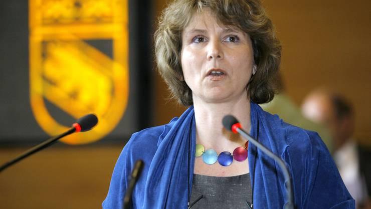 Dirigiert heute zum letzten Mal den Grossen Rat: Dorothea Loosli.