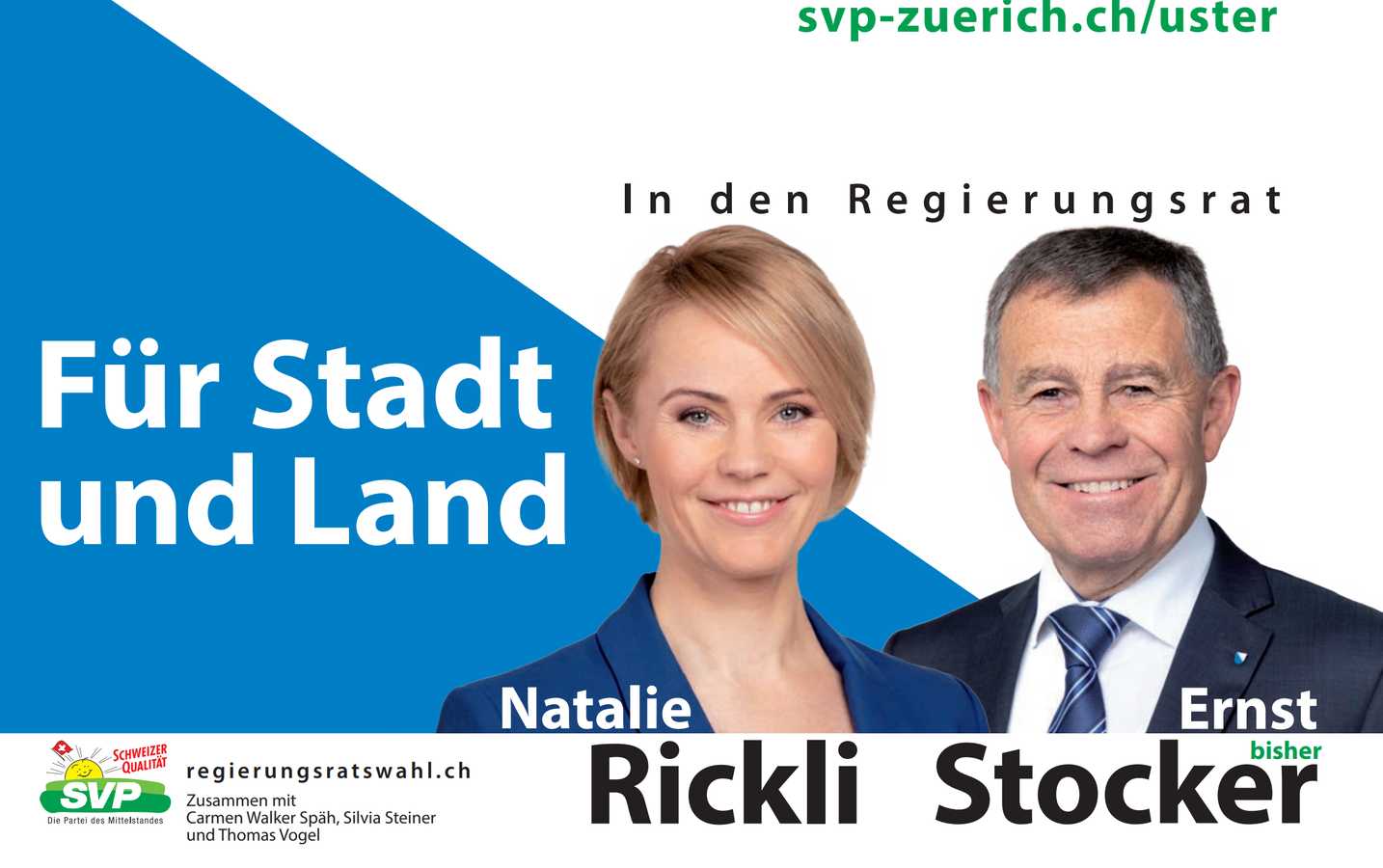 Slogans Plakate Regierungsratswahlen (© SVP)
