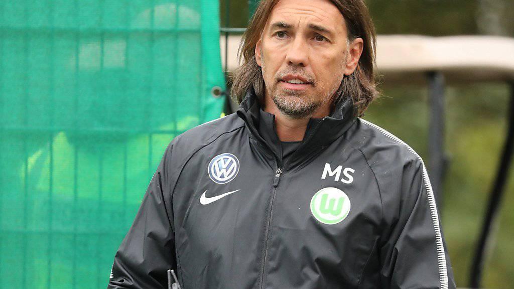Heute das erste Spiel als Wolfsburg-Trainer: Martin Schmidt
