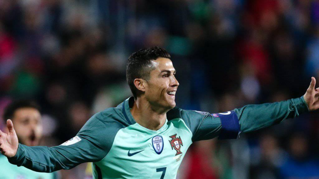 Portugals Superstar Cristiano Ronaldo, den es für die Schweizer Nati heute zu stoppen gilt