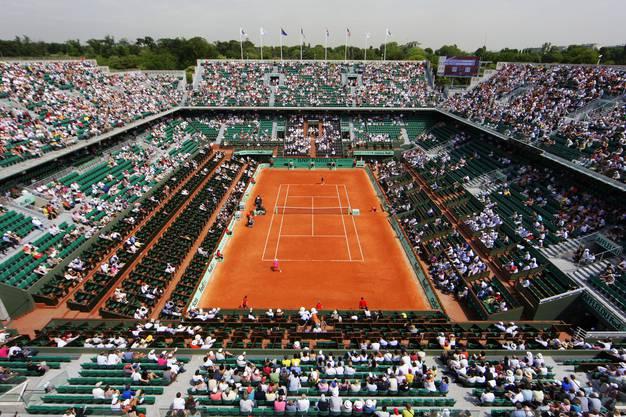 Der Court Philippe Chatrier erhält in diesem Jahr ein Dach.