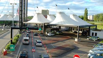 Autobahn-Grenzübergang bei Basel-St. Louis. (Symbolbild)