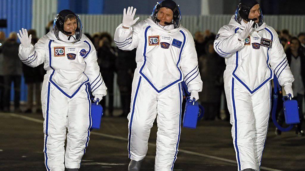Die US-Raumfahrtbehörde hofft auf ein neues Toilettensystem, das eine automatische Entsorgung von Körperausscheidungen für bis zu sechs Tage erlaubt. Erfinder sollen ihre Vorschläge einreichen. (Archivbild)