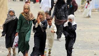 Kinder in Yemen auf der Flucht: Das Uno-Kinderhilfswerk Unicef unterstützt Kinder in Armut, humanitären Krisen und bewaffneten Konflikten. (Archiv)