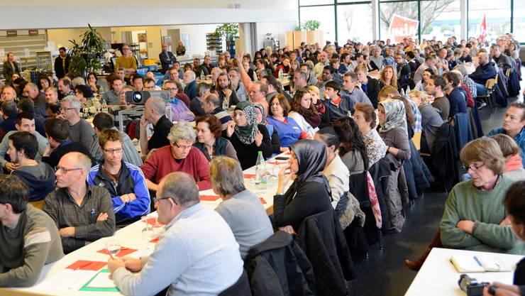 Die Scintilla-Betriebsversammlung im Januar.