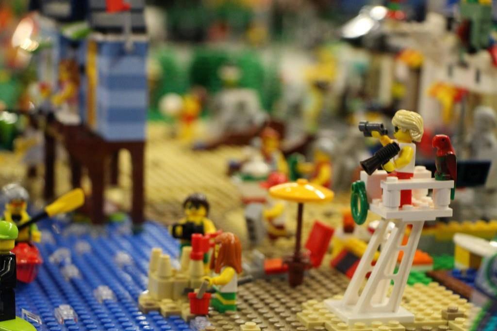 Die Sonderausstellung enthält mehr als eine Million Lego-Steine. (© FM1Today/Noémie Bont)