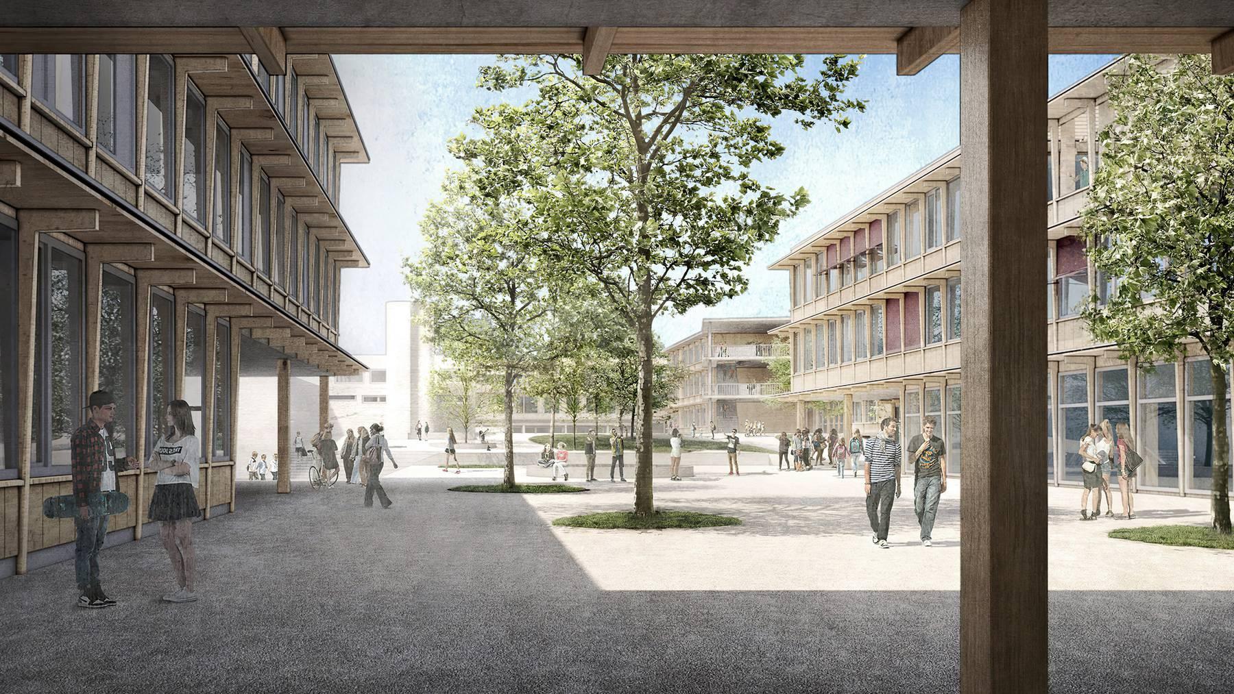 Die Stadt Zug hat sich für ein Siegerprojekt für die Schulanlage Herti entschieden.