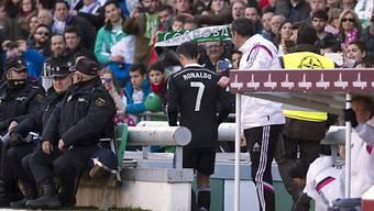 Cristiano Ronaldo musste in Cordoba vorzeitig unter die Dusche