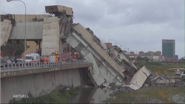 Einbruch einer 4-Spurigen Autobahnbrücke