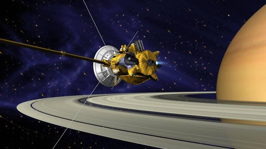 Illustration der Nasa-Sonde Cassini beim Saturn. (Archivbild)