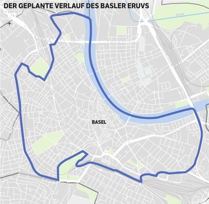 Der geplante Verlauf des Basler Eruvs
