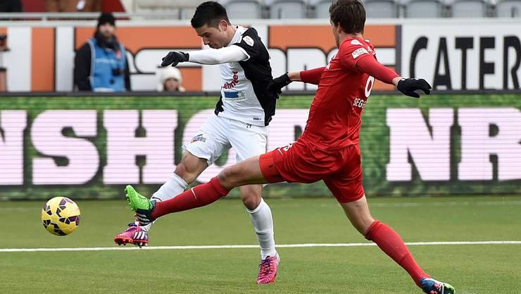 Erstes Spiel, erstes Tor: Moreno Costanzo sorgt beim FC Aarau für die neue Dimension.