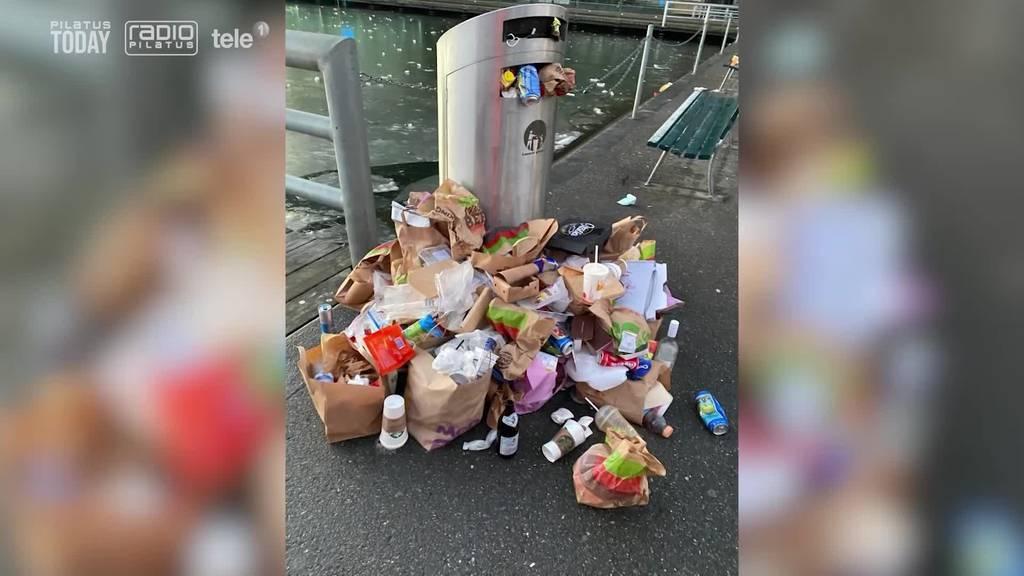 Viele Spaziergänger verursachen viel Abfall