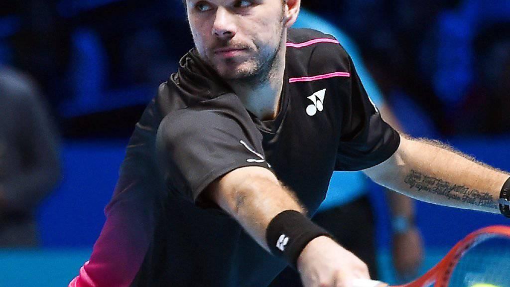 Stan Wawrinka verlor seine Auftaktpartie an den ATP-Finals in London gegen Rafael Nadal