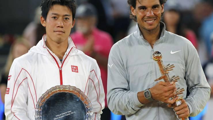 Key Nishikori und Sieger Rafael Nadal