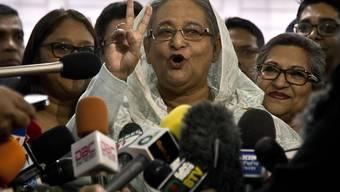 Wahlerfolg: Sheikh Hasina wird Bangladesch weiterhin als Premierministerin führen.
