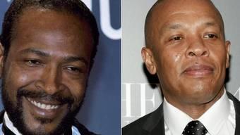Der Musikproduzent Dr. Dre (r) will das Leben der Soullegende Marvin Gaye (l. 1939-1984) verfilmen. (Archivbilder)