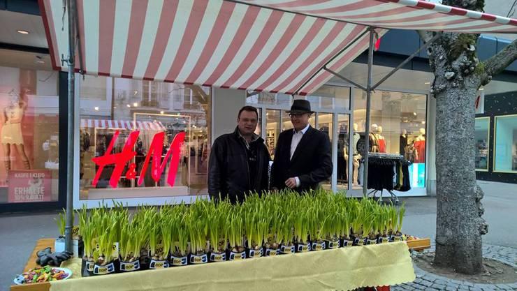 Beni Blaser Rechts und Michael Merkli Links in Baden am diesjährigen Frühlingsgruss