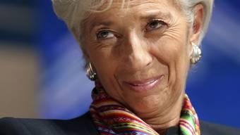 IWF-Chefin Christine Lagarde an der Jahrestagung in Lima.