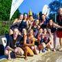 Die Basler Wasserballerinnen jubeln nach dem gewonnen Cupsieg 2019.