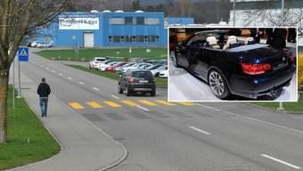 Auf der Industriestrasse im Innerortsbereich von Möhlin wurde der Raser mit einem BMW M3 (Symbolbild) geblitzt.