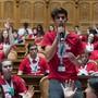 Die Jugendlichen haben ihre Forderungen und Ideen aus der Klimabewegung und dem Frauenstreik ins Bundeshaus gebracht.