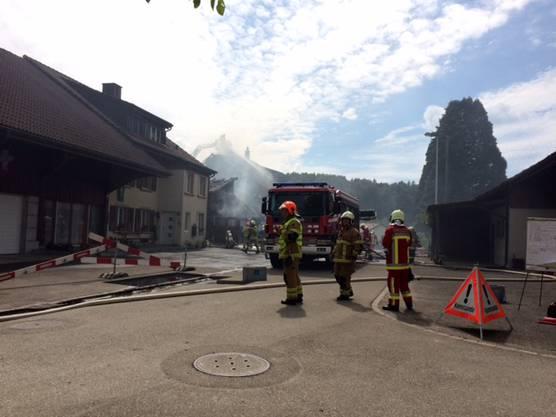 Die angebaute Scheune und die Werkstatt wurden komplett zerstört.