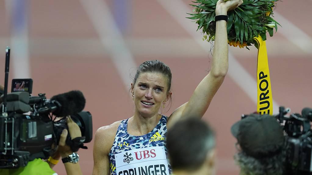 Léa Sprunger lässt sich feiern.
