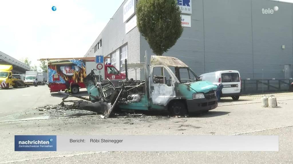 Imbisswagen in Rothenburg explodiert