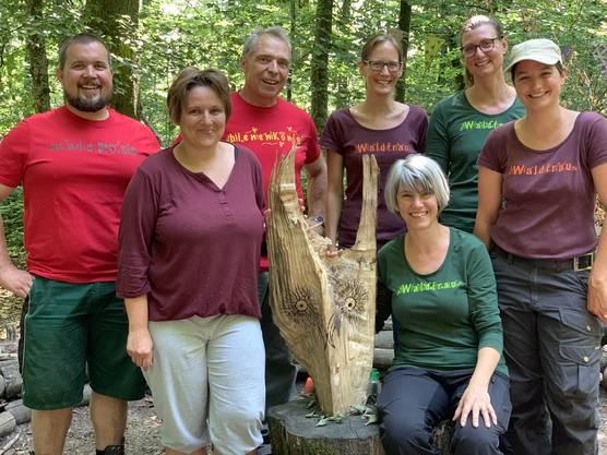 von links nach rechts hinten: Jeremias Boss, Werner Habermacher, Rahel Schmid, Iris Oswald, Claudia Uebelmann vorne: Karin Treier, Andrea Böller