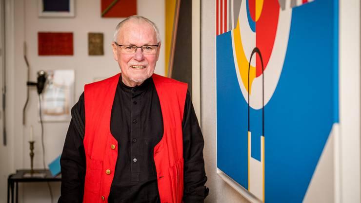 René Walter in seiner Wohnung im Ruffini-Quartier, in der er auch arbeitet.