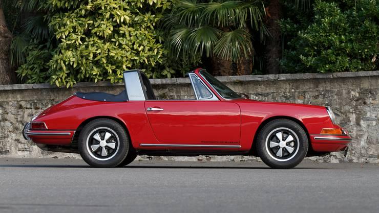 Porsche 911 Targa 2.0 (1967): Der UR-Targa mit Stoff-Verdeck.