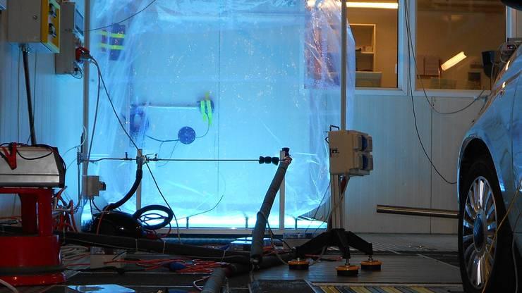 Die Motoren wurden in der Smogkammer des Paul-Scherrer-Instituts und im EU-Forschungszentrums JRC in Italien getestet.