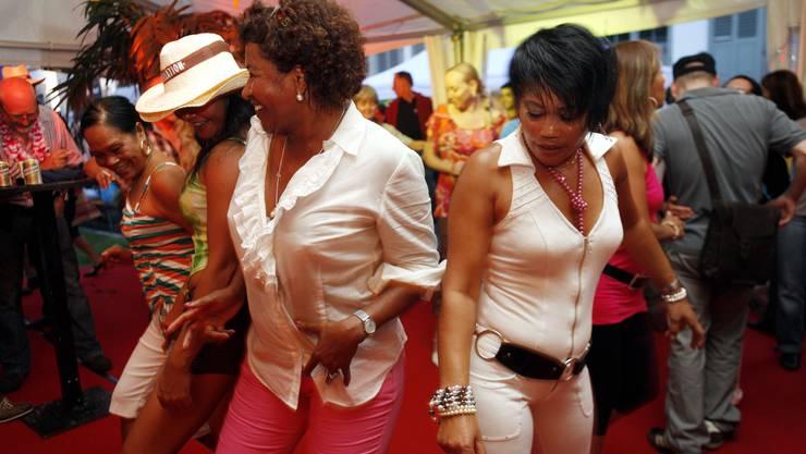Ausgelassene Stimmung zum Auftakt des Latino-Festivals Caliente.
