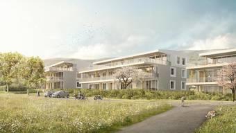 Eines von vielen Bauprojekten im Schenkenbergertal: die Überbauung Breiti in Thalheim.