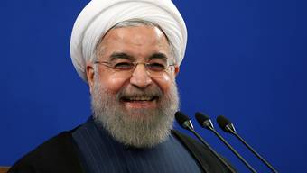 """Nur nicht persönlich nehmen: Irans Präsident Hassan Ruhani erklärt in einem Interview, wie das Volk in den USA die regelmässigen """"Tod Amerika"""" im Iran verstehen soll. (Archivbild)"""