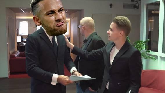 Wenn Neymar einen Bürojob hätte ..