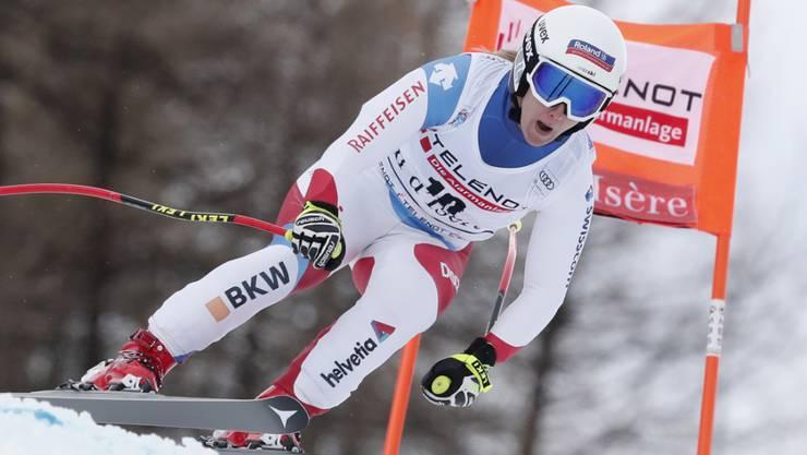 Joana Hählen war am Donnerstag im Abfahrtstraining als Neunte die beste Schweizerin