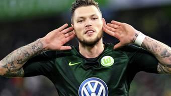 Wolfsburgs Daniel Ginczek traf schon wieder für Wolfsburg