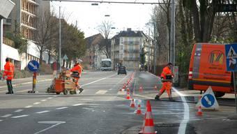 Bauarbeiten finden bald ein Ende: Voraussichtlich ist die Riedtlistrasse ab Freitag wieder frei.